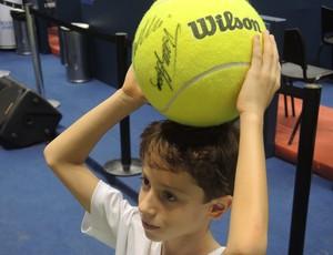 Eduardi Andreta, o Dudu, rouba a cena no Brasil Open (Foto: David Abramvezt)