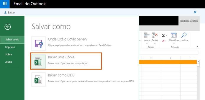 Salve a tabela editada do Excel pelo Outlook (Foto: Reprodução/Barbara Mannara)