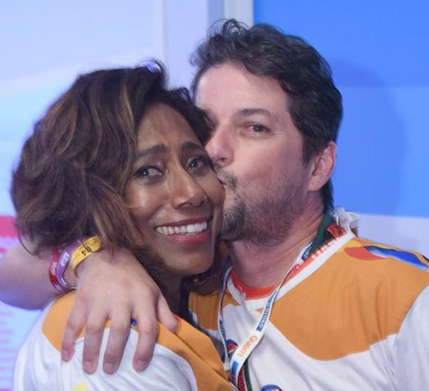 Glória Maria e Marcelo Serrado (Foto: Renato Wrobel/ Ed. Globo)