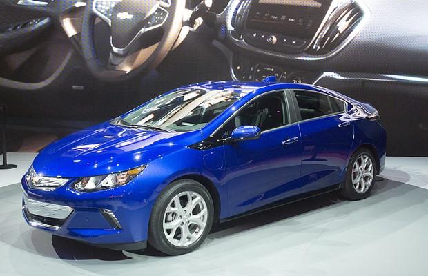 Chevrolet Volt no Salão de Detroit 2015 (Foto: Newspress)