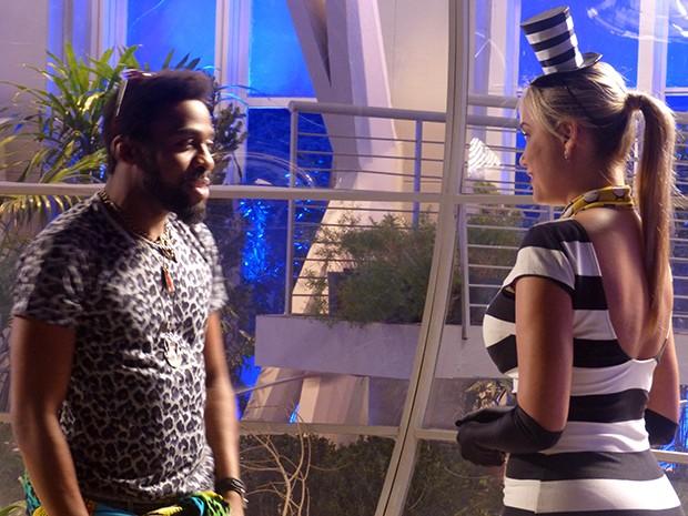 Ellen Rocche atuando ao lado de Lázaro Ramos  (Foto: Geração Brasil / TV Globo)