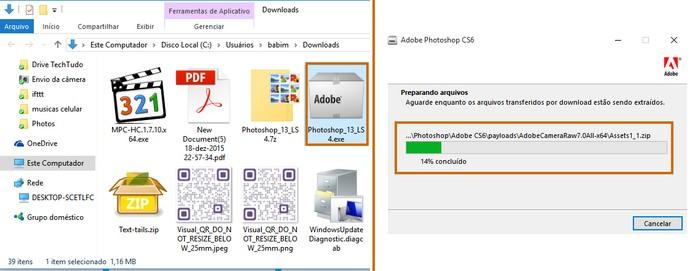 Execute o arquivo baixado para começar a instalação do Photoshop CS6 (Foto: Reprodução/Barbara Mannara)