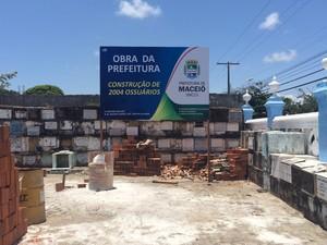 Obras do ossário municipal do São José já começaram (Foto: Carolina Sanches/G1)
