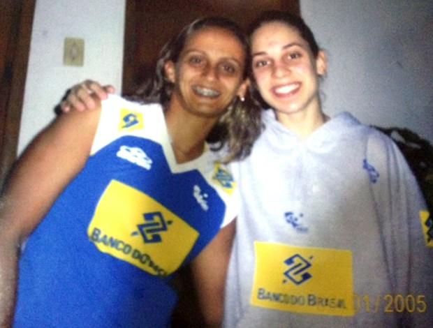 Camila Brait e Fabi vôlei  (Foto: Divulgação / Arquivo Pessoal)