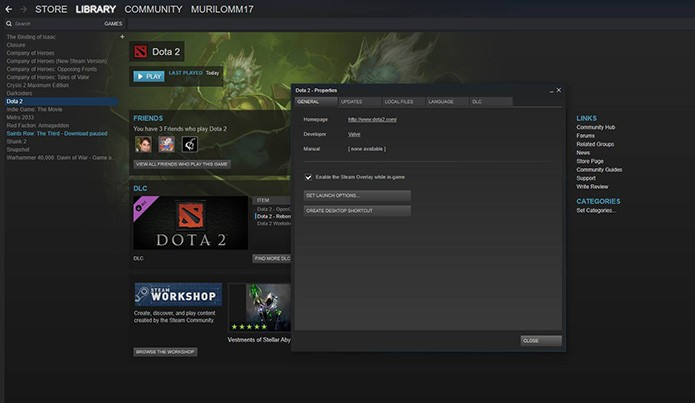 dota 2 how to open console