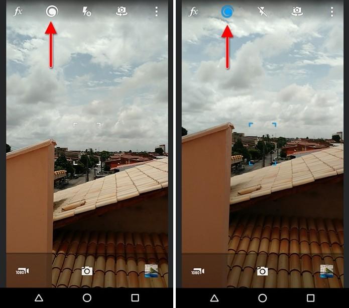 Ativando as Live Shots no aplicativo (Foto: Felipe Alencar/TechTudo)
