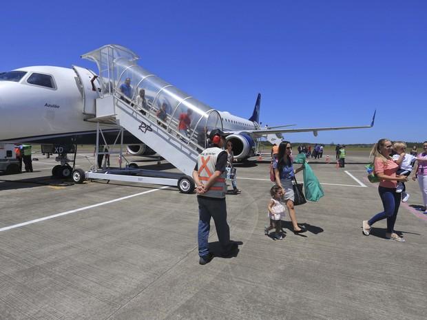 Aeroporto Em Sc : G aeroporto de jaguaruna passa a ter voos duas