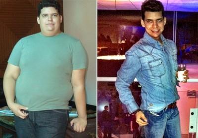 FORÇA DE VONTADE O piauiense Mauro Estrêla conseguiu emagrecer 75 quilos só com dieta e exercícios físicos (Foto: Arquivo pessoal)