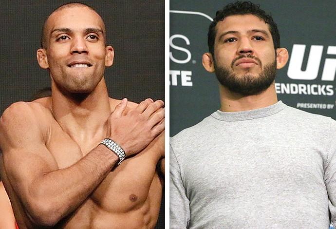 Montagem UFC Edson Barboza e Gilbert Melendez (Foto: Editoria de Arte)