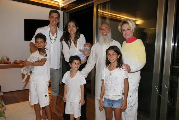 Prem Baba na casa de Márcio Garcia e Andréa Santa Rosa Garcia (Foto: Felipe Panfili / AgNews)