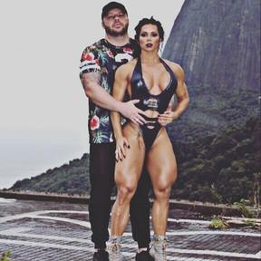 Suelen Bissolati com o marido, Carlos Cordeiro (Foto: Divulgação)