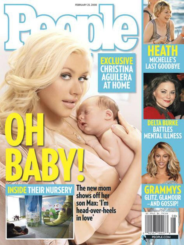 Christina Aguilera e o filho Max Liron Bratman (Foto: Reprodução)