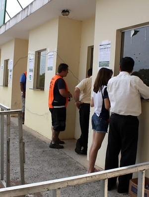 Busca dos palmeirenses por ingressos em Araraquara é baixa (Foto: Cleber Akamine / globoesporte.com)