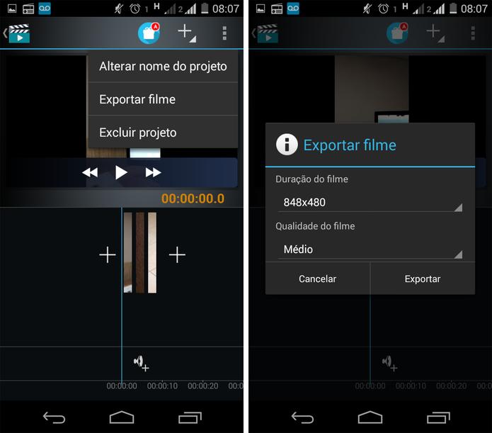 Exportação de vídeo no Movie Studio (Foto: Reprodução/ Marcela Vaz)