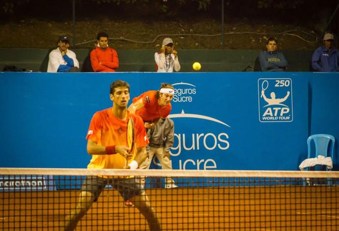 Marcelo Demoliner e Thomaz Bellucc tênis ATP Quito (Foto: Divulgação)