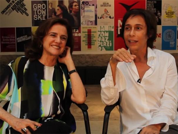 Marieta Severo e Andrea Beltrão: projeto deu origem a outro palco, o Poeirinha (Foto: Renata Magalhães)