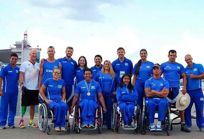 Va'a seleção brasileira (Foto: Reprodução)