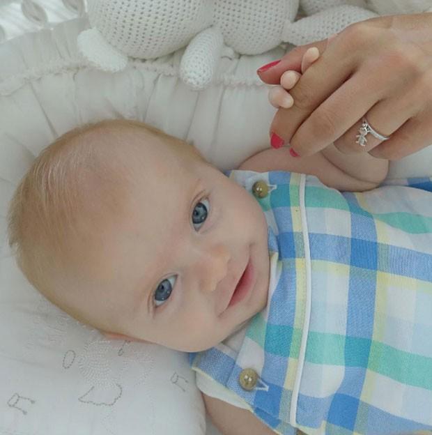 Enrico, o filhinho de Karina Bacchi (Foto: Reprodução Instagram)