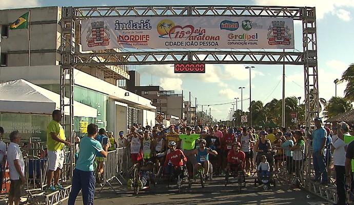 Meia Maratona João Pessoa, 15ª edição, Paraíba, João Pessoa (Foto: Reprodução / TV Cabo Branco)