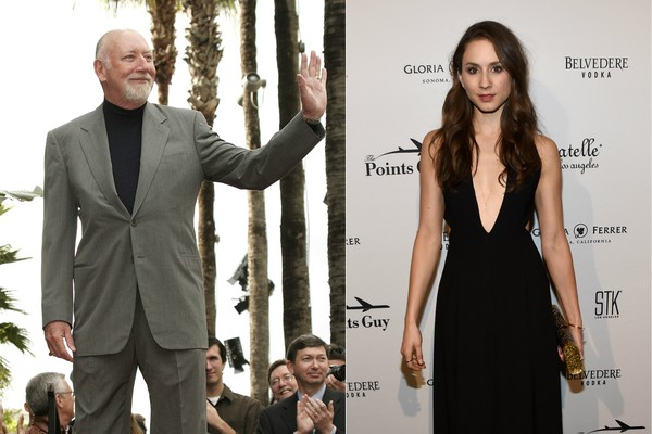 O produtor e roteirista Donald Bellisario e sua filha, a atriz Troia Bellisario (Foto: Getty Images)