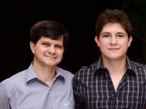 Leonildo e o filho, Éric Francio Severo (à direita) (Foto: Arquivo pessoal)