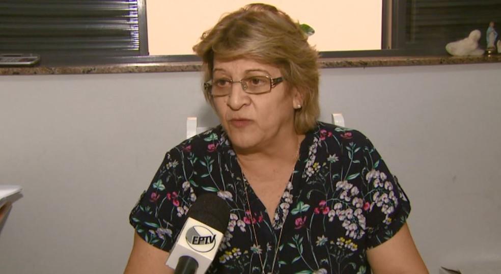 A diretora de Educação de São João, Maria Helena Angeline Santana. (Foto: Eder Ribeiro/ EPTV)