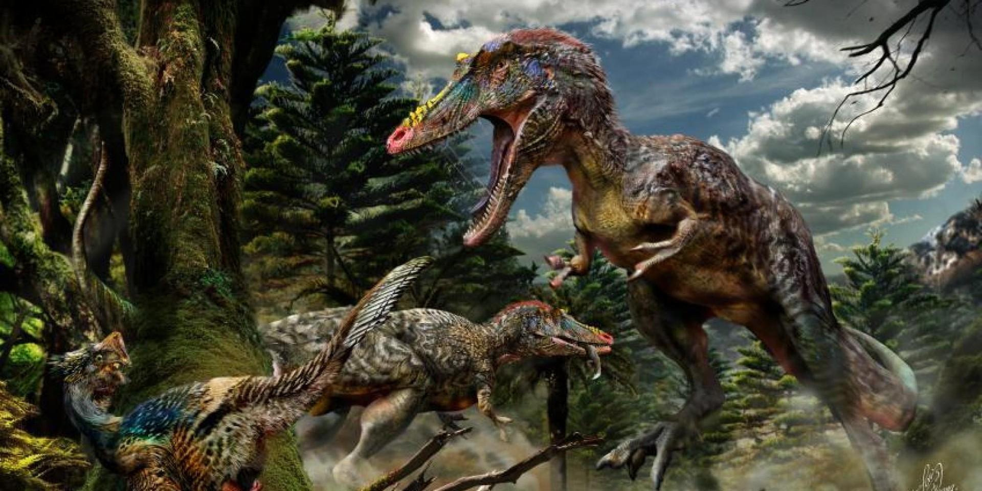 Versão de artista do Pinnochio rex, baseada na ossada do animal (Foto: Divulgação )