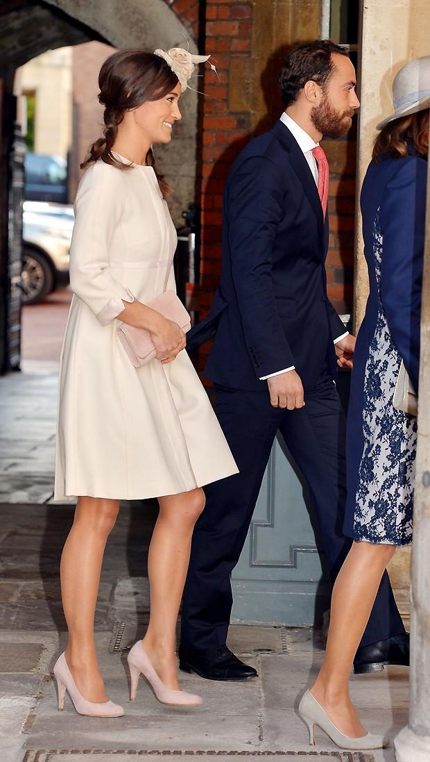 Pippa Middleton, usou um vestido semelhante ao da irmã (Foto: AP)