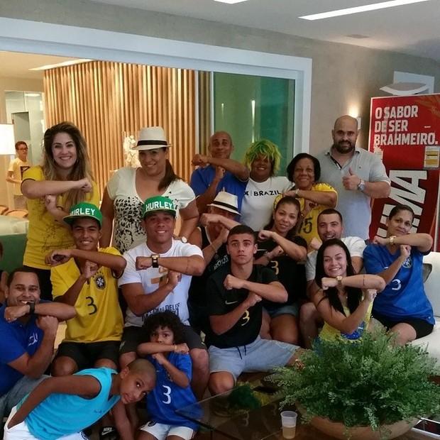 Família de Thiago Silva  (Foto: Instagram / Reprodução)