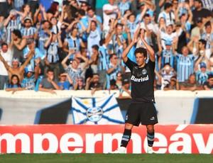Elano comemora gol contra o Figueirense (Foto: Lucas Uebel/Grêmio FBPA)