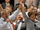 Dilma e Lula exaltam programas sociais e criticam gestões do PSDB