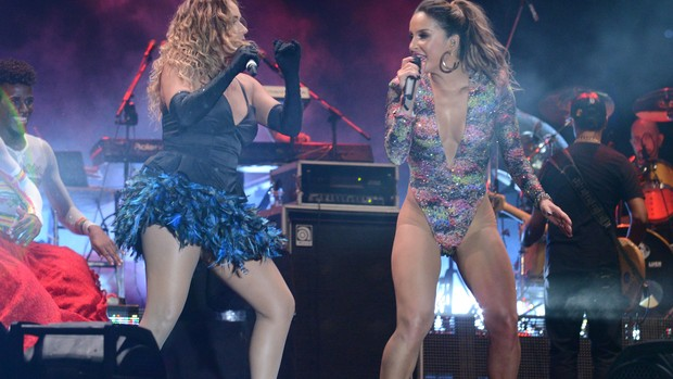 Claudia Leitte e Daniela Mercury (Foto: Raphael Dias/Gshow)