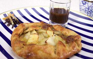 Galette de maçã com garam masal toffee