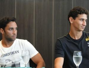 Ibson e Ganso em evento beneficente em Santos (Foto: Mariane Rossi / TVTribuna.com)