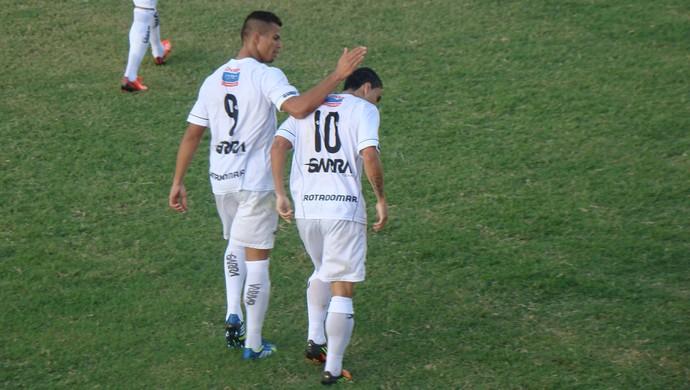 Tallys, camisa 10 da Patativa, autor do 1º gol (Foto: André Vinícius / GloboEsporte.com)