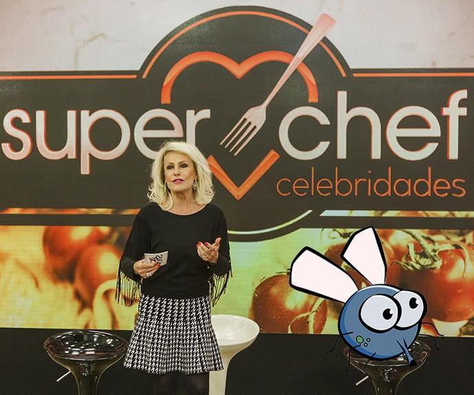 Ana Maria Braga e a nova participante do 'Super Chef' (Foto: Globo/Arthur Meninea/Gshow)