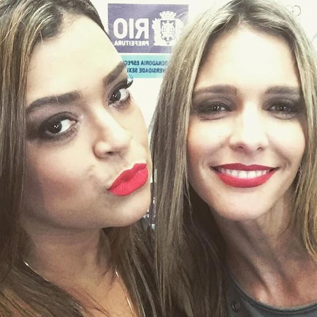 Preta Gil e Fernanda Lima em evento no Centro do Rio (Foto: Instagram/ Reprodução)