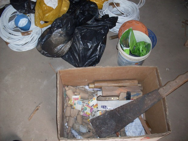 Material apreendido estava dentro de caixa.  (Foto: Divulgação/ Batalhão de Polícia Ambiental )