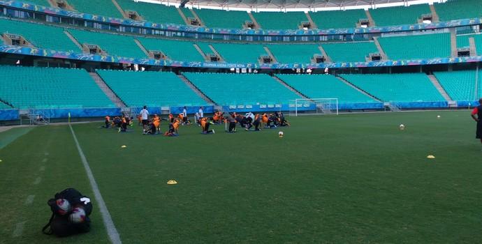 Vitória treina na Fonte Nova (Foto: Thiago Pereira)