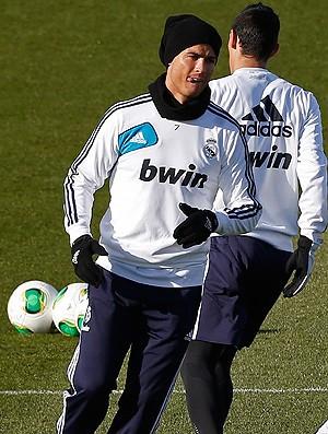 Cristiano Ronaldo no treino do Real Madrid (Foto: Reuters)