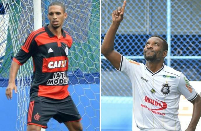 O Flamengo de Wallace e o Rio Branco-ES de Rincon decidem a Superliga FUT 7 neste domingo, no RJ (Foto: Montagem sobre fotos de Jornal F7)