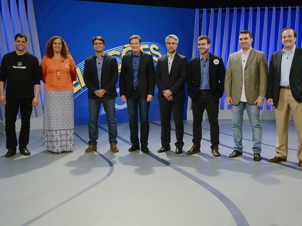 DEBATE RIO: candidatos à prefeitura (Foto: Alexandre Durão / G1)
