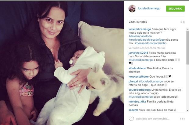 """Luciele Di Camargo em post: """"Cabe mais um?"""" (Foto: Reprodução/Instagram)"""