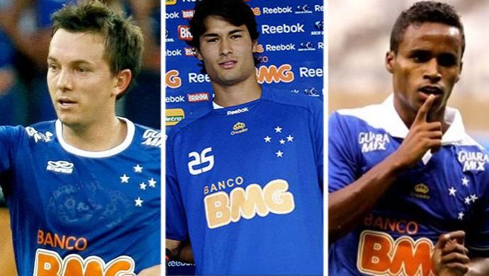 Dagoberto, Pedro Ken e Élber Cruzeiro (Foto: Editoria de Arte)