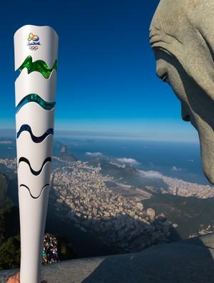 Cristo Redentor Tocha Olímpica Rio 2016 (Foto: Alex Ferro / Rio 2016)