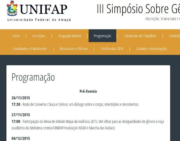Simpósio vai acontecer na Universidade Federal do Amapá (Unifap) (Foto: Reprodução/Unifap)