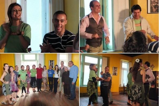 Vida e Saúde e Turma do CorreRia foram dançar salsa (Foto: Montagem sobre fotos/ Divulgação)