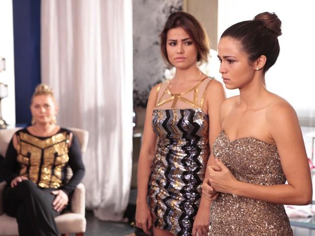 Morena se emociona ao lembrar que hoje seria o dia do seu casamento com Théo (Foto: Salve Jorge/TV Globo)