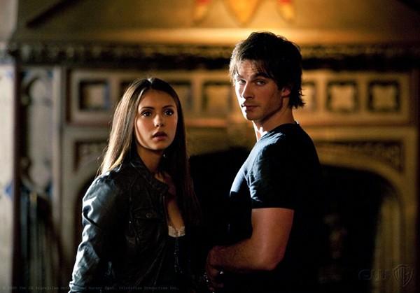 Ian Somerhalder e Nina Dobrev em 'The Vampire Diaries' (Foto: Divulgação)