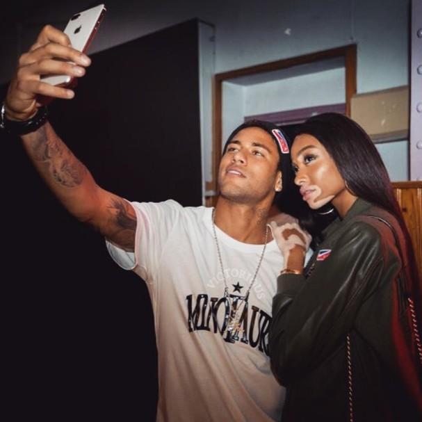 Neymar e Winnie Harlow  (Foto: Instagram/Reprodução)